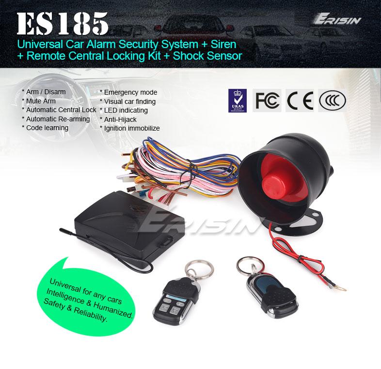 Erisin Es185 Universal Car Alarm Security System   Siren
