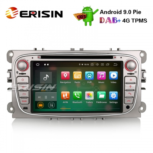 "Erisin ES7909FS 7"" Android 9.0 Autoradio GPS DAB+ DVD CD Canbus SD for Ford Focus C/S-Max Mondeo Galaxy"