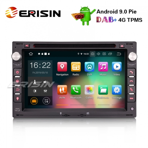 "Erisin ES7986V 7"" Android 9.0 Car Stereo For VW Golf Passat Polo Bora Seat Peugeot 307 DAB+ GPS CD"
