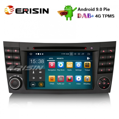 "Erisin ES7980E 7"" Android 9.0 Car Stereo GPS DAB+ CD Canbus SatNav Mercedes E/CLS/G W211 W219 W463"