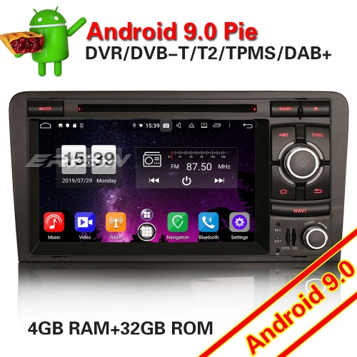 Erisin ES7737A 8-Core Android 9.0 Car GPS SatNav Stereo for AUDI A3 S3 RS3 RNSE-PU OBD2
