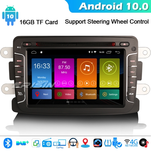 Erisin ES3029D Android 10.0 Car Stereo GPS Renault Dacia Duster Sandero Dokker Lodgy WiFi 4G CarPlay DSP