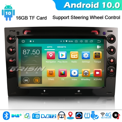 Erisin ES5113M CarPlay Android 10.0 GPS Car Stereo SatNav For Renault Megane DAB+BT WiFi DAB+ 4G