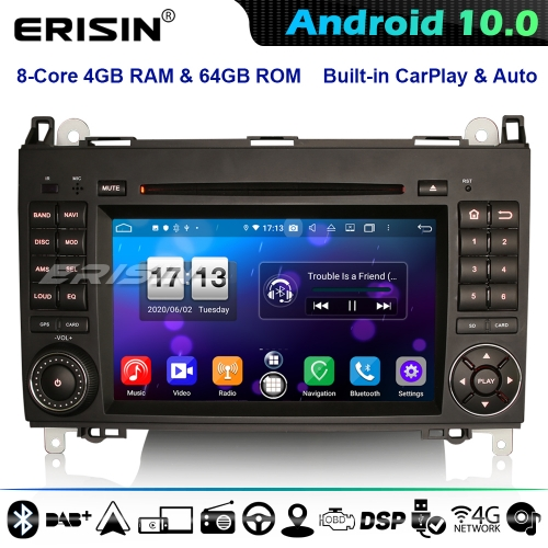 Erisin ES8702B DSP 8-Core Android 10.0 Car Stereo Mercedes A/B Class W169 W245 Sprinter Viano Vito Crafter CarPlay