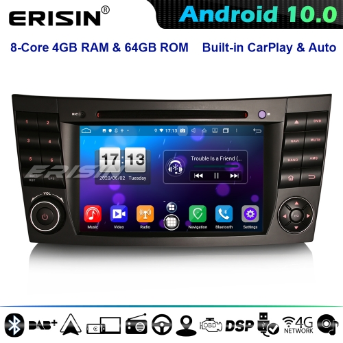 Erisin ES8710E 8-Core Android 10 Car Stereo GPS Radio For Mercedes E/CLS/G W211 W219 CarPlay DSP 4G WiFi Blueooth