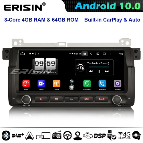 "Erisin ES8788B 8.8"" CarPlay Android 10.0 Car GPS Stereo BMW 3 Series E46 Rover 75 MG ZT 8-Core DSP 4G WiFi Bluetooth"