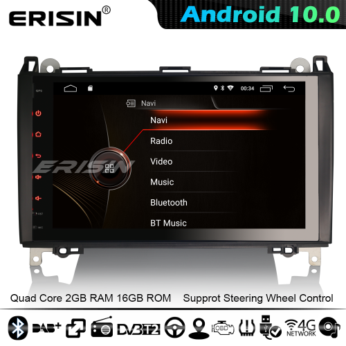 "Erisin ES4292B 9"" DSP Android 10.0 Car Stereo GPS Radio Mercedes Benz A/B Class Viano Sprinter Crafter CarPlay 4G WiFi Bluetooth"