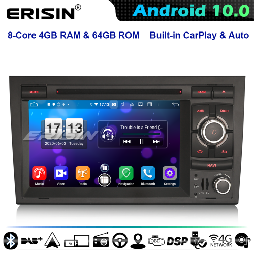 Erisin ES8738A DSP 8-Core Android 10.0 Car Stereo GPS Radio Audi A4 S4 RS4 B9 B7 EXEO SEAT CarPlay CD 4G WiFi Bluetooth