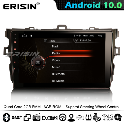 "Erisin ES4297A 9"" Android 10.0 Car Stereo GPS SAT NAV for TOYOTA COROLLA ALTIS CarPlay DSP DAB+ 4G WiFi Bluetooth"