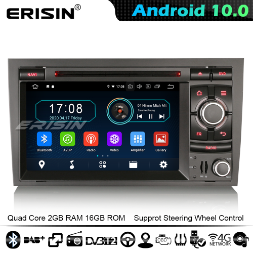 Erisin ES5974A DAB+ Android 10.0 Car Stereo GPS Audi A4 S4 RS4 RNS-E Seat Exeo Sat Nav Radio CarPlay WiFi 4G Bluetooth