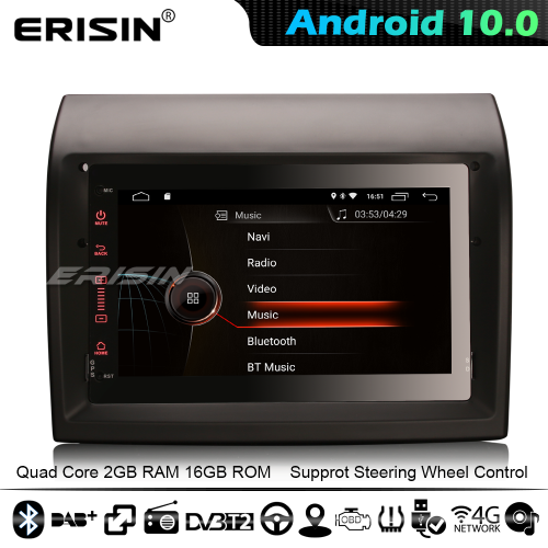 Erisin ES4274F CarPlay Android 10.0 DSP GPS Car Stereo Peugeot Boxer Fiat Ducato Citroen Jumper 4G WiFi Bluetooth DAB+