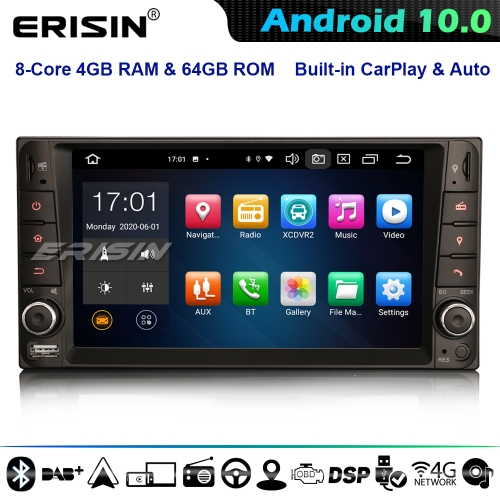 Erisin ES8112C 8-Core Android 10.0 Car Stereo DAB+ GPS SatNav For Toyota Hilux RAV 4 Corolla Vios 4G WiFi Bluetooth CarPlay DSP