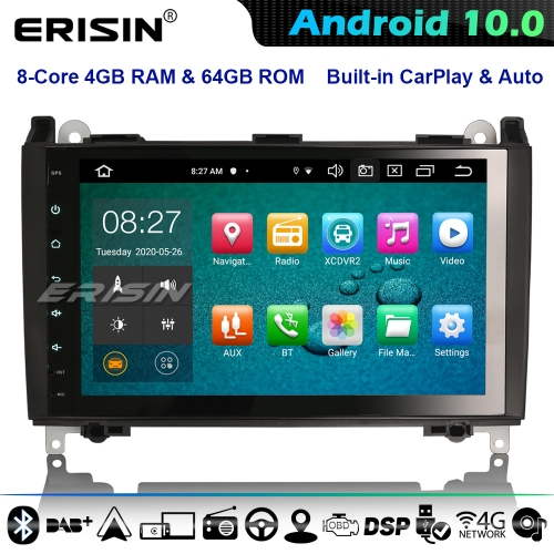 Erisin ES8101B DSP 8-Core Android 10.0 Car GPS Stereo Mercedes Benz A/B Class Vito Viano VW Crafter Sprinter CarPlay 4G WiFi Bluetooth