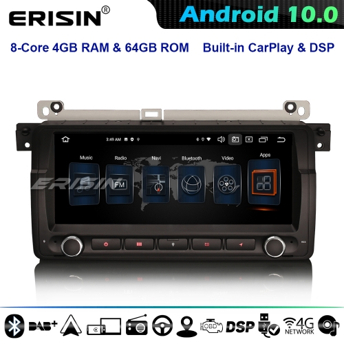 "Erisin ES8146B 8.8"" DSP 8-Core CarPlay DSP Android 10.0 Car GPS Stereo Sat Nav BMW 3 Series E46 Rover 75 MG ZT DAB+ DSP 4G WiFi BT"
