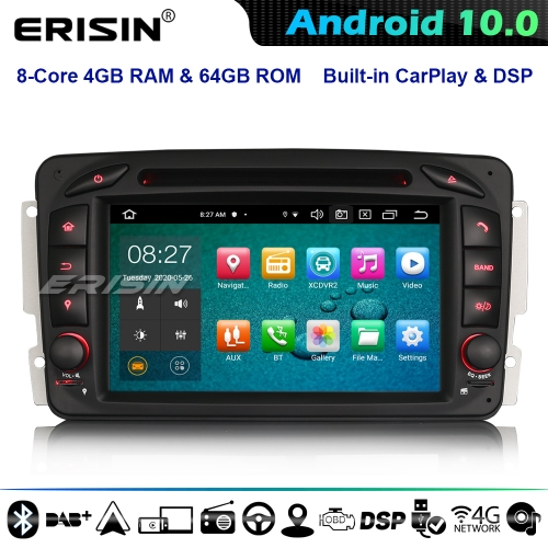 Erisin ES8163C 8-Core Android 10.0 Car Stereo GPS Sat Nav DSP Mercedes Benz C/CLK/G Class W203 Vito Viano CarPlay DSP 4G WiFi BT