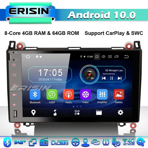 "Erisin ES6992B 8-Core 9"" Car Stereo GPS Radio Android 10.0 Mercedes Benz A/B Class Sprinter Viano Vito VW Crafter CarPlay 4G WiFi Bluetooth"