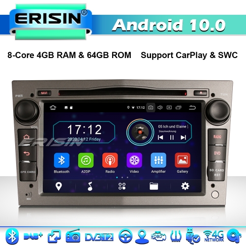 Erisin ES6960PG 8-Core Android 10.0 Car Stereo Head Unit for Vauxhall Opel Astra Corsa Meriva Vectra Combo Signum GPS DAB+ CD CarPlay