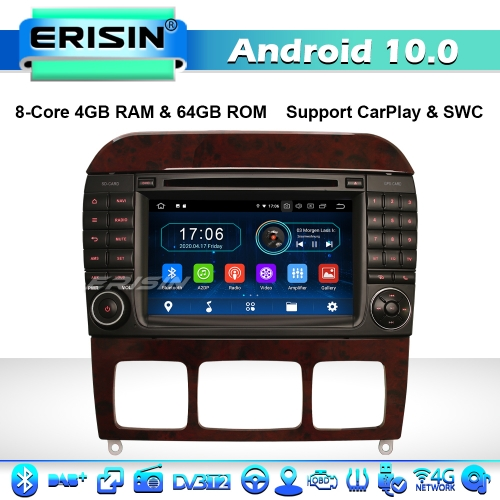 Erisin  ES6997S 8-Core Android 10.0 Car Stereo GPS Radio Mercedes Benz S/CL Class W220 W215 CarPlay DAB+ CD CarPlay 4G WiFi
