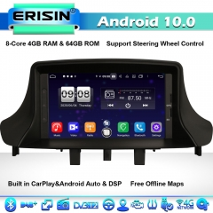 Erisin ES8773M DSP 8-Core Android 10 Car Stereo GPS Sat Nav Renault Megane Ⅲ Fluence CarPlay BT DAB+ 4G WiFi
